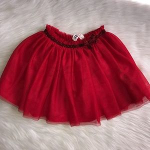 H&M red skirt tutu size 2-3